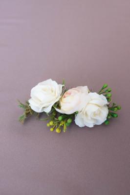 Hrebienok do vlasov ivory+ružová